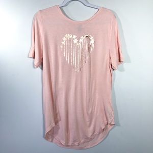 *NWT* OLD NAVY • Pink Heart T-Shirt | L